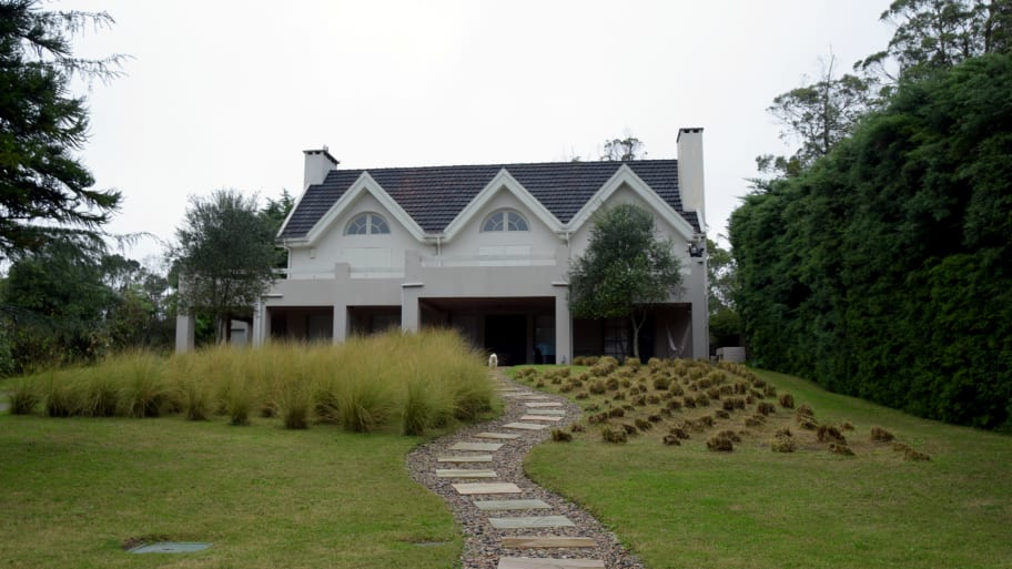 """Front view of the house """"Salve"""" where Rocco Morabito, one of Italy's most wanted mob bosses, lived in Punta del Este, Uruguay."""