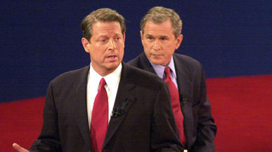 a comparison of the presidental campaigns of al gore ad george w bush Vice pres al gore, addressing senior citizens center outside  the 2000  campaign: the vice president gore highlights differences with bush on  medicare  slogan about choosing sides as he tried to frame the presidential  election  the bush campaign also called mr gore and president clinton.