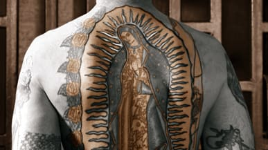 La Virgen De Guadalupe Y Juan Diego >> Lady of Guadalupe: Virgin Mary's New Symbolism for Gangs and Commerce