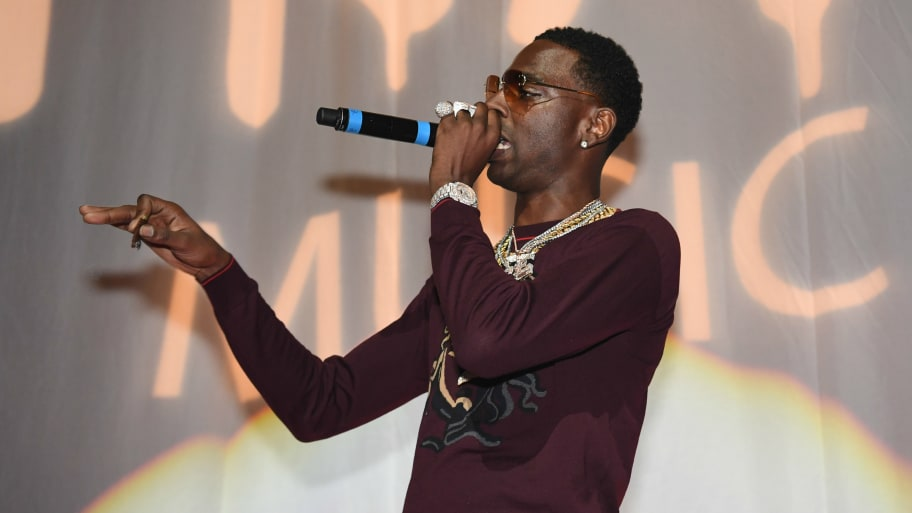 Rapper Young Dolph performs onstage at night four of the Late Night Concert during the 2017 BET Experience