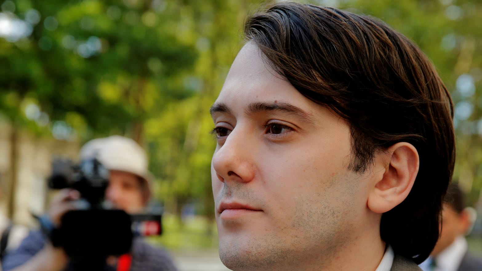 Martin Shkreli, former chief executive officer of Turing Pharmaceuticals and KaloBios Pharmaceuticals Inc, departs after a hearing at U.S. Federal Court in Brooklyn, New York, U.S., June 26, 2017.