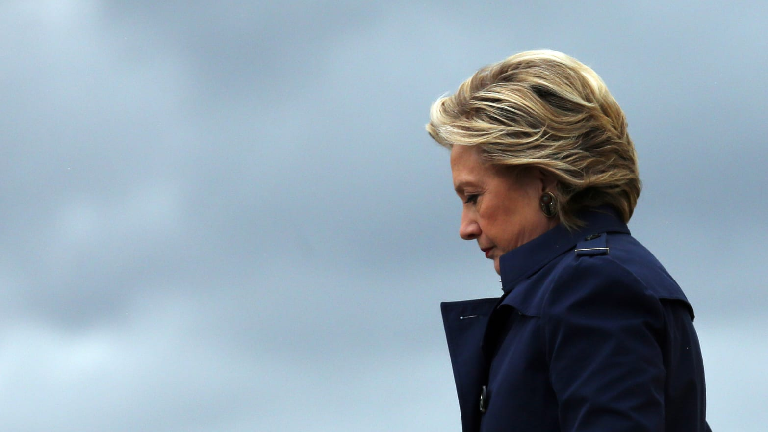 U.S. Democratic presidential nominee Hillary Clinton at Burke Lakefront airport in Cleveland, Ohio