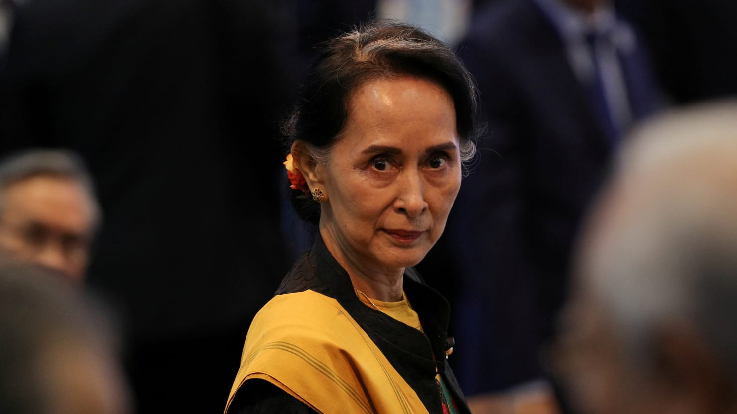 "Nobel Peace Prize winner and ""Handmaiden to Genocide"" Aung San Suu Kyi"