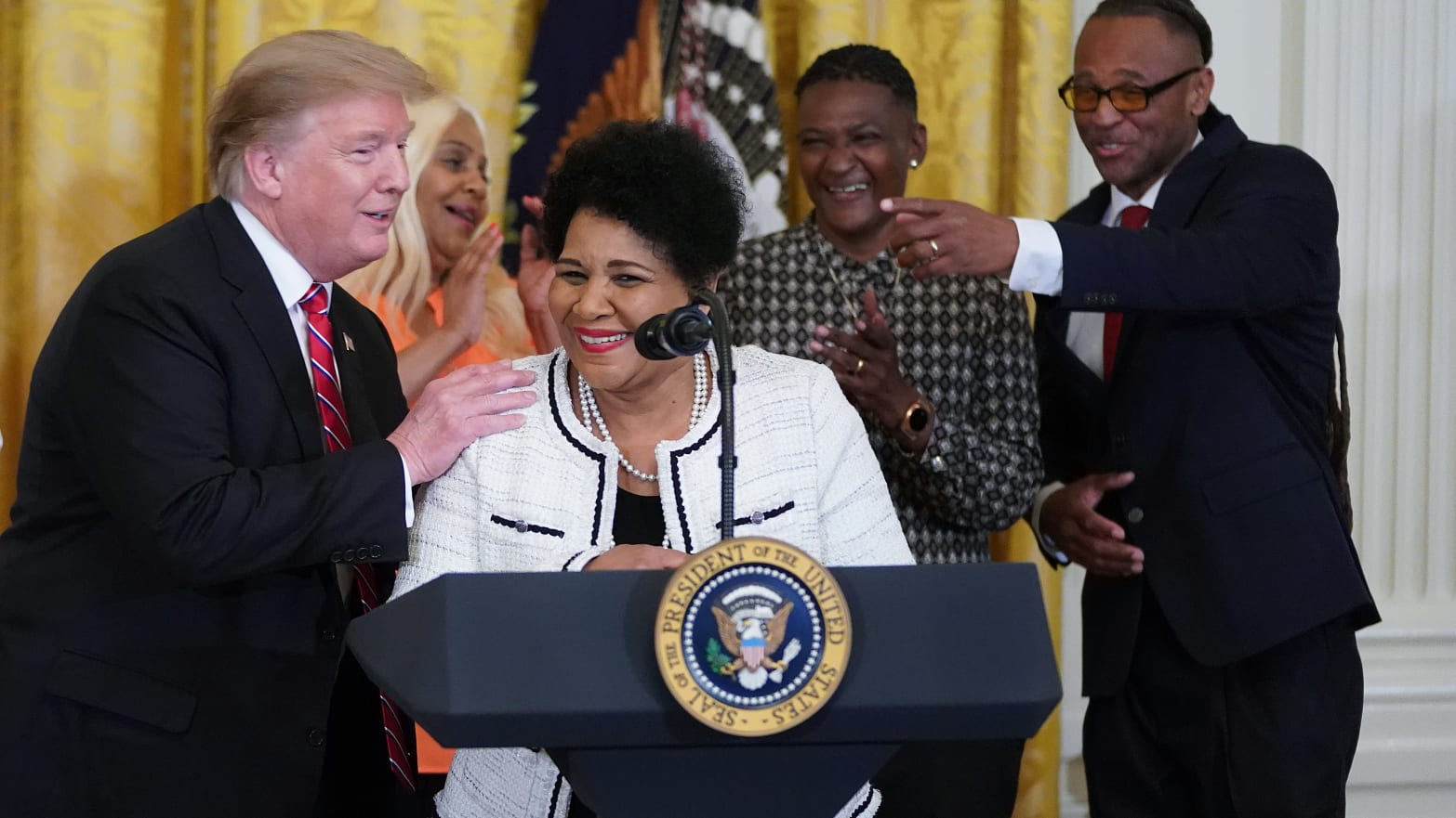 Trump courts black voters, but opposition remains deep