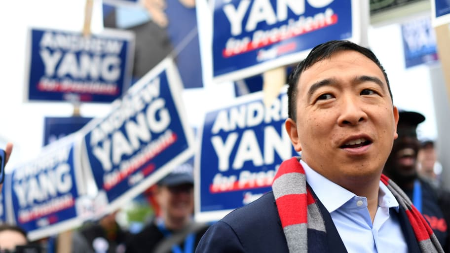 Andrew Yang Says New SNL Cast Member Shane Gillis Should Not Be Fired for Using Racist Slur About Him