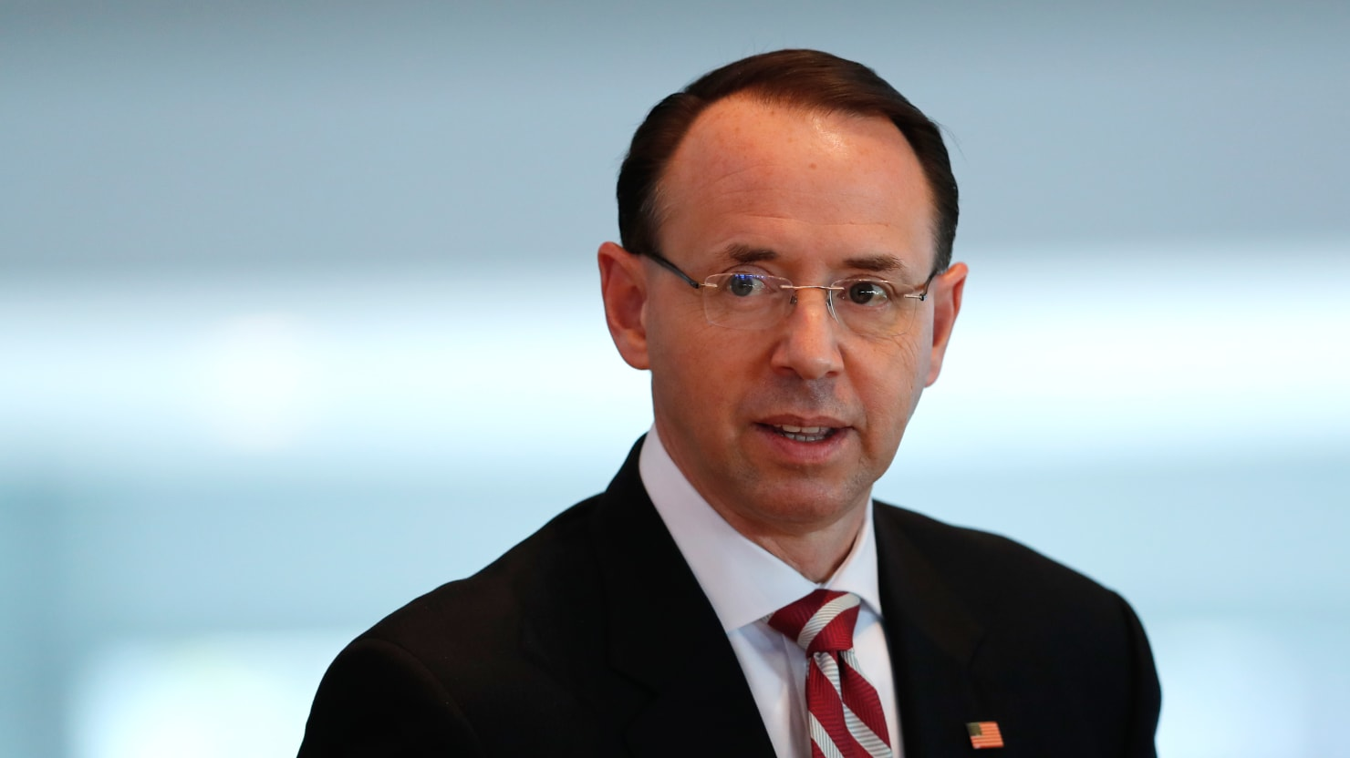 Rosenstein Agrees to Hang On at DOJ 'a Little While Longer,' Fox Reports