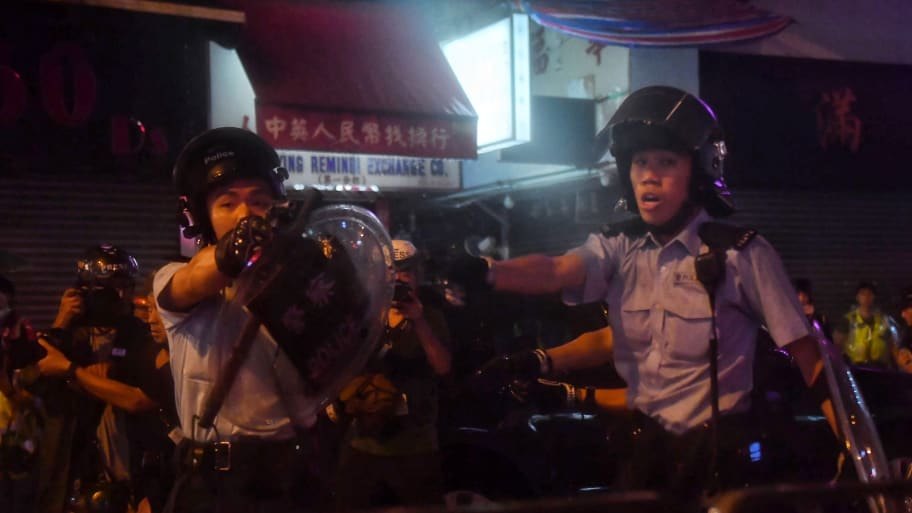 Hong Kong Protests: Police Use Water Cannons Against Demonstrators