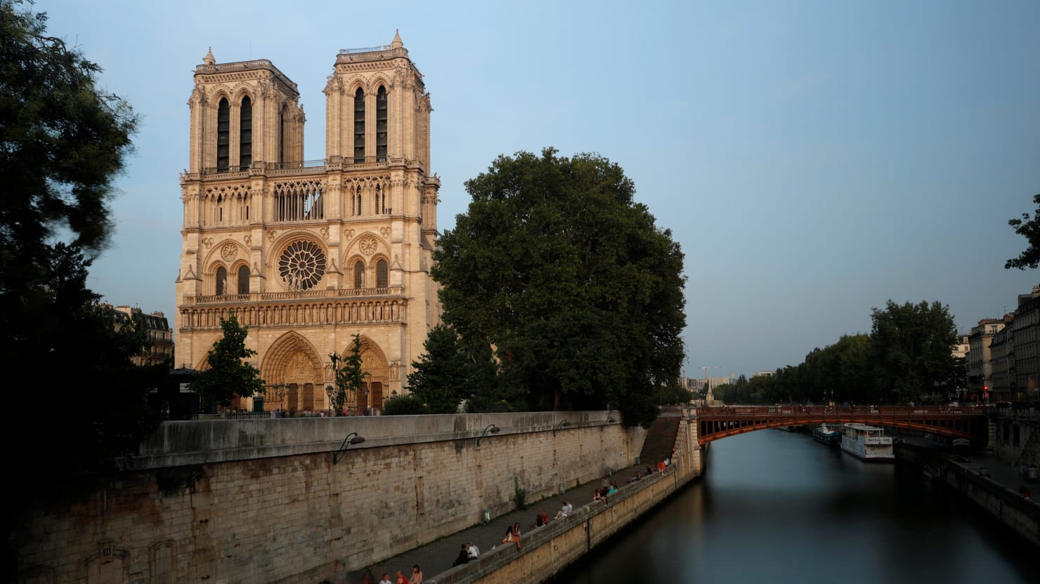 Paris'Notre Dame Cathedral Is on Fire