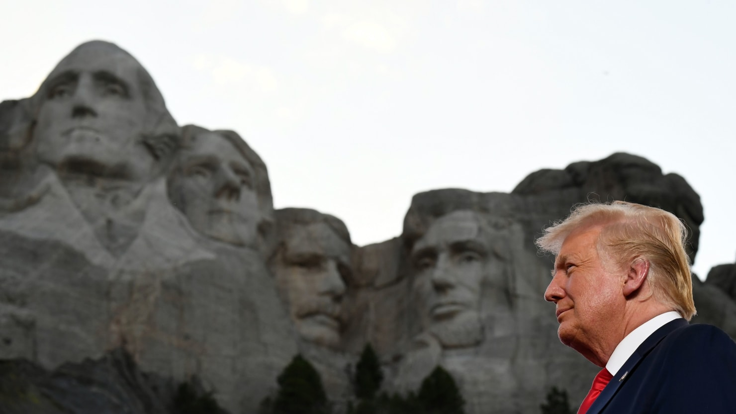 Trump Denies Asking About Adding His Big Head to Mount Rushmore, Then Says It's a 'Good Idea'