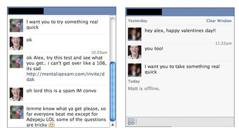 Facebook chat spam uses friends to fool users