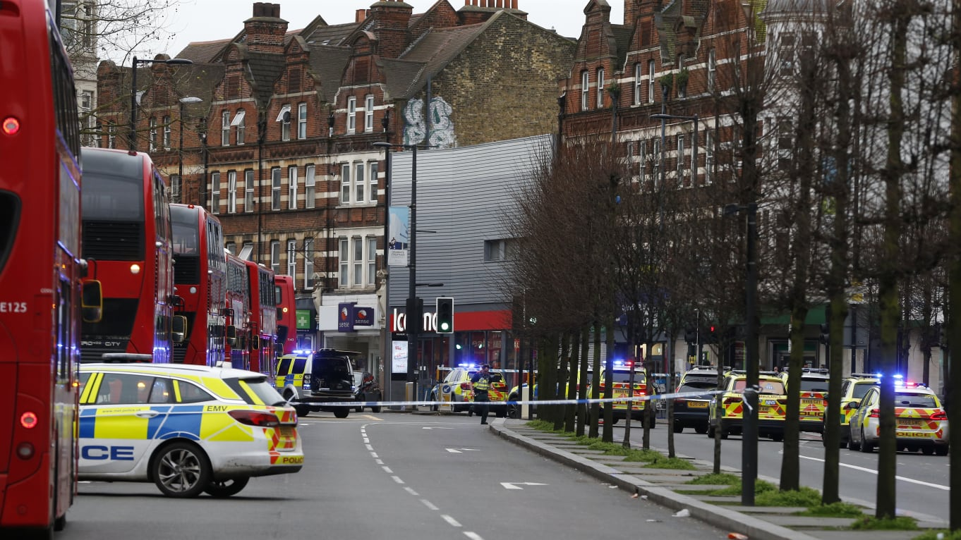 Man stabs people in London. Shot by police