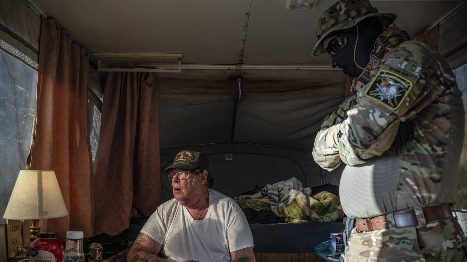 QAnon-Loving Border Militia Is Run By Ex-Con Who Says He Talks to Trump