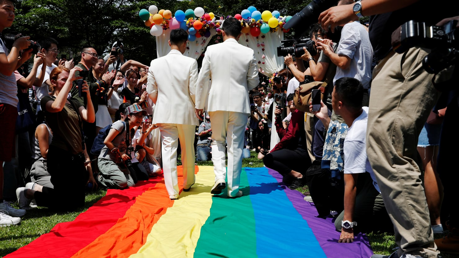 Taiwan Celebrates Asia's First Legal Same-Sex Marriages
