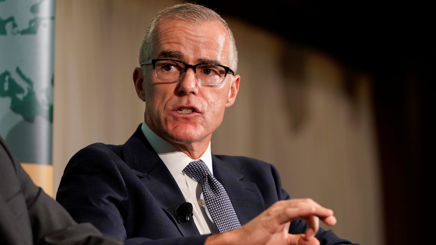 Justice Department Won't Charge Former FBI Official Andrew McCabe in Lying Case