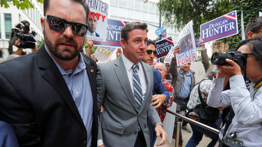 Marine Corps Issues Cease-And-Desist Letter to Duncan Hunter After He Used Logo in Islamophobic Campaign Mail