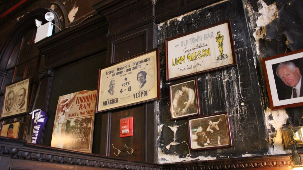 Vintage Signs in Old Town Bar