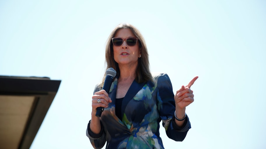 Marianne Williamson Compares Trump to 'Mad King George'