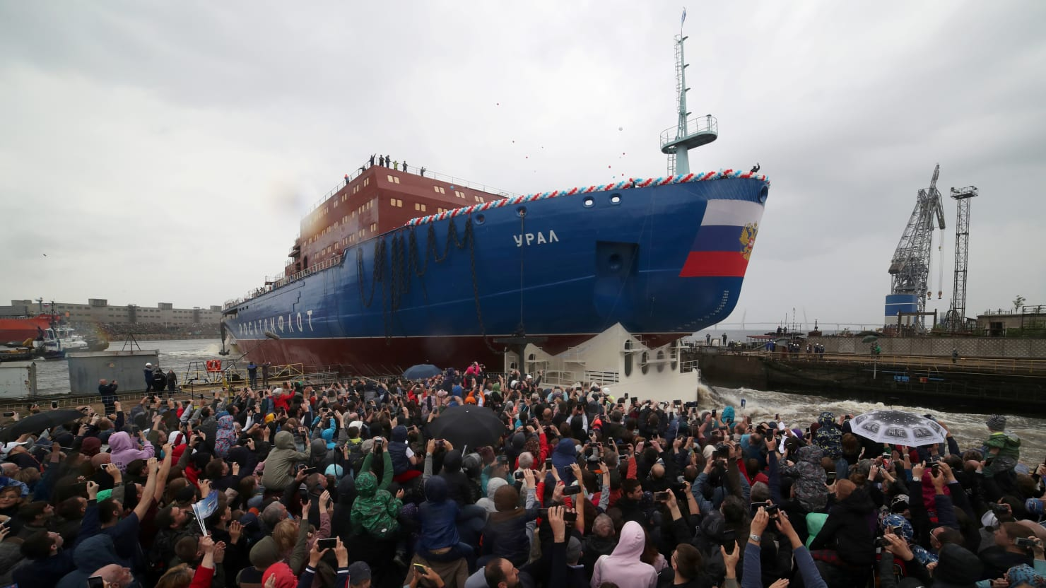 Russia Launches Powerful Nuclear Icebreaker to Tap Arctic's Commercial Potential
