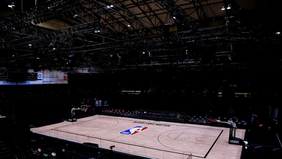 Empty NBA Court