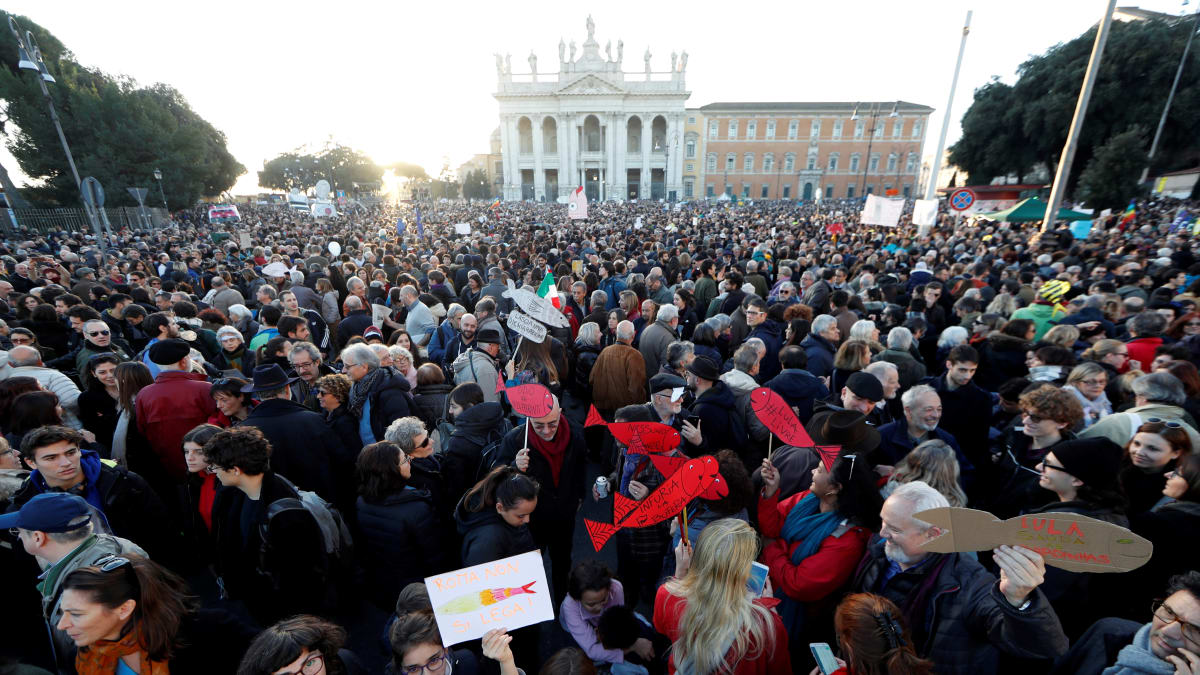 Italy's Sardine Movement Turns the Tide Against Fascism in Italy