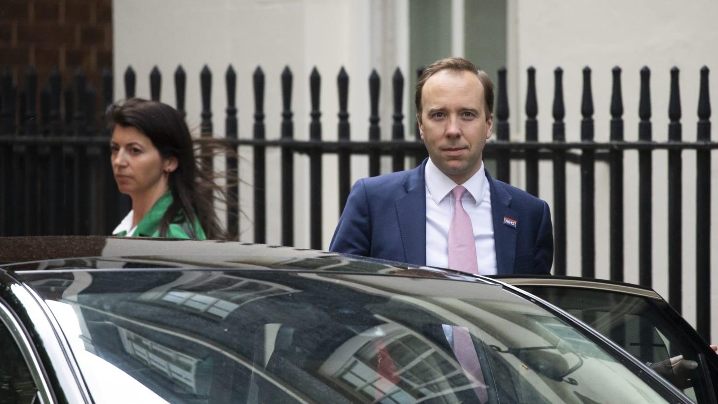 Boris Johnson's 'F*cking Hopeless' Health Secretary Matt Hancock Caught Kissing Aide