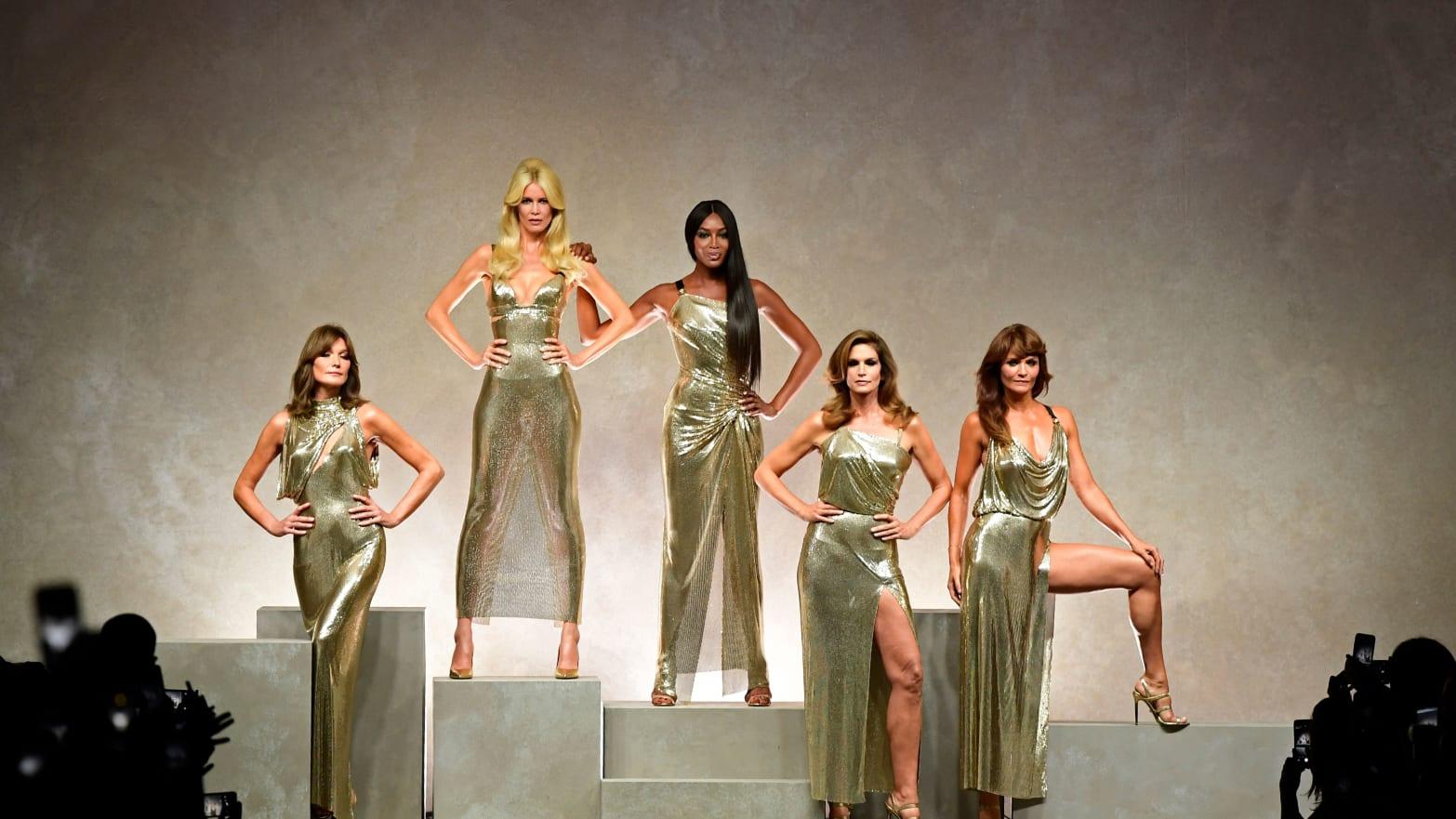 Versace's Spring 2018 show for Milan Fashion Week