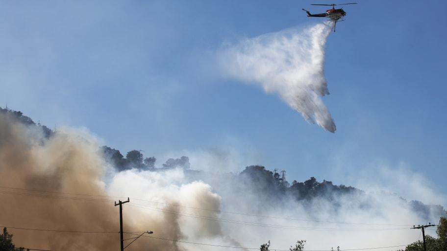 Saddleridge Fire Started Under High Voltage Transmission Tower in Slymar, California: LAFD
