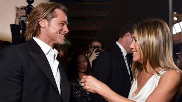 Brad Pitt Mocks Marriage to Angelina Jolie At SAG Awards and Dances With His Other Ex, Jennifer Aniston