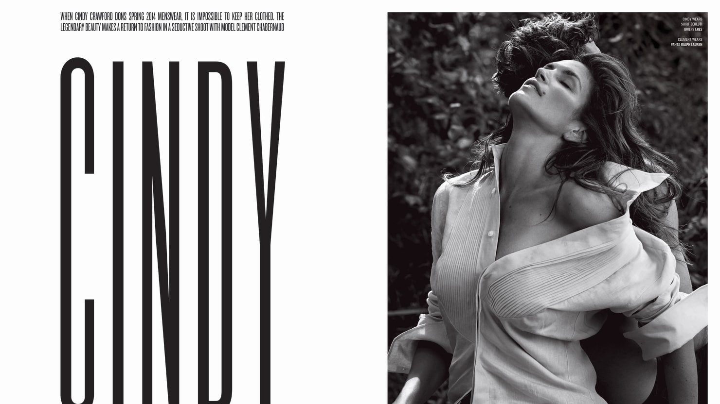 Cindy Crawford Opens Up on Her Supermodel Stardom to V magazine