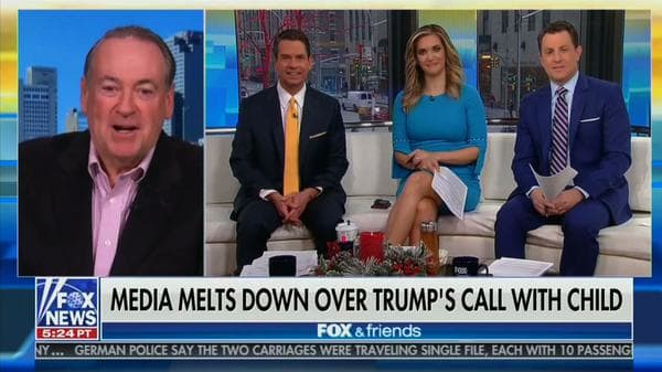 Mike Huckabee Defends Trump on Santa Call: It's Not Like He's 'Boiling the Little Girl's Bunny'
