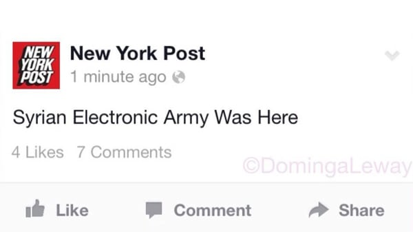 hacked by the syrian electronic army