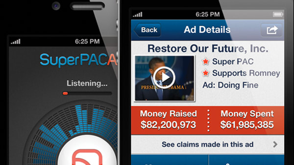 interactive: daily beast super pac app election ad tracker