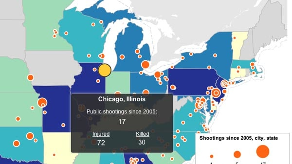 Interactive Map The US Shooting Epidemic - Map of us interactive