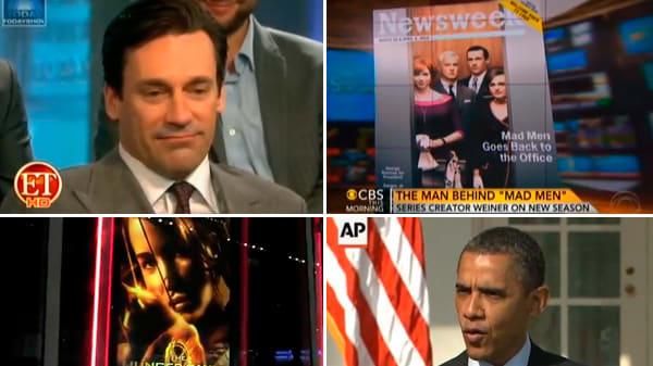 Hunger Games Opens, John Slattery Gets Naked, and More