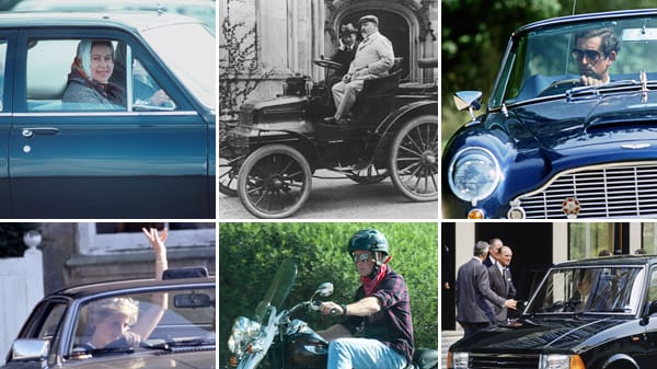 prince harry and other royals on wheels (photos)