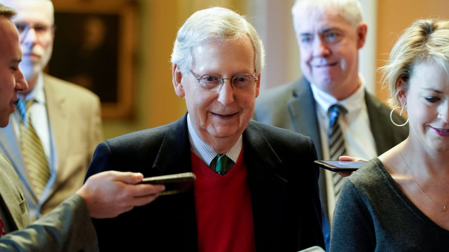 Mitch McConnell Says Trump Is Not a Racist, Urges Everyone to 'Lower the Incendiary Rhetoric'