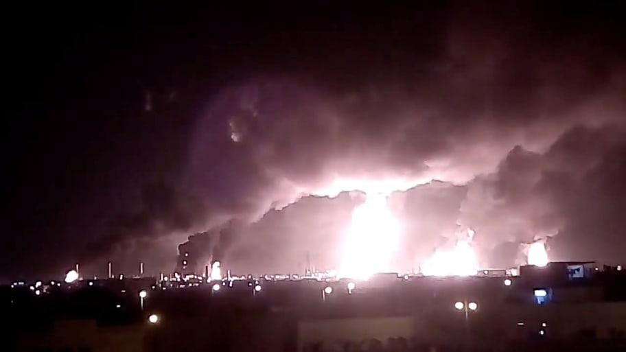 Drone Strikes Ignite Saudi Oil Plants, Yemen's Houthi Rebels Claim Responsibility