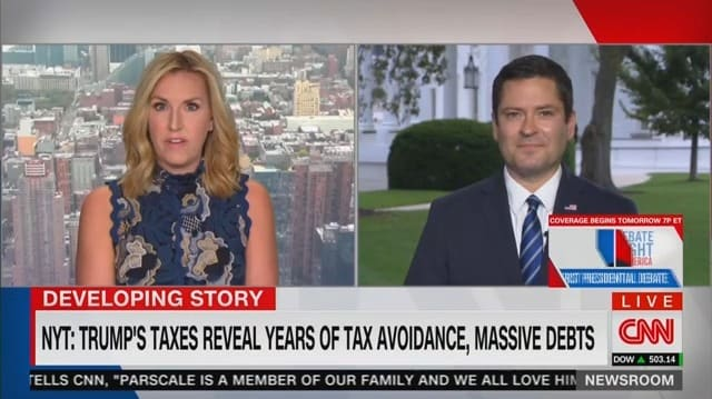 CNN Anchor Shuts Down Trump Spox for Attacking NYT Reporters on Tax Story
