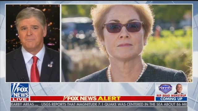 Sean Hannity Predicts Marie Yovanovitch Will Cry 'on Cue' at Hearing