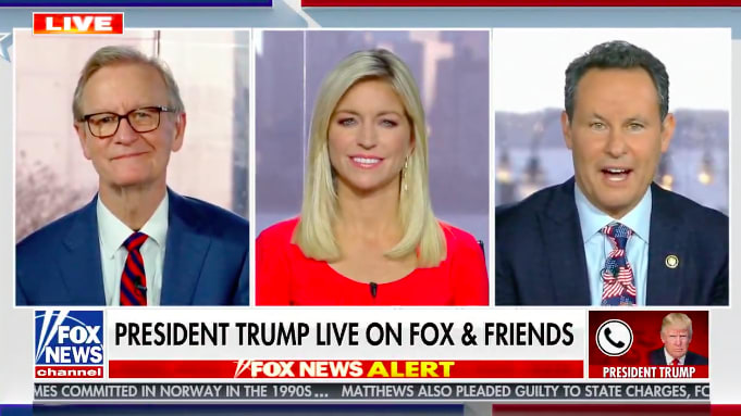 Trump Croaks His Way Through Downbeat Election Day Call With 'Fox & Friends'