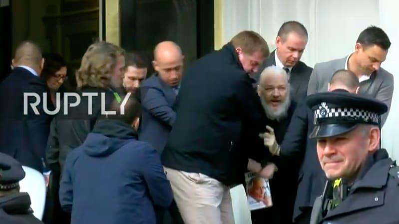 Julian Assange WikiLeaks Founder Dragged Out Of
