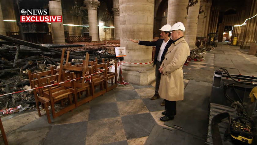 Video: ABC News' Exclusive Tour of Notre Dame Cathedral Wreckage