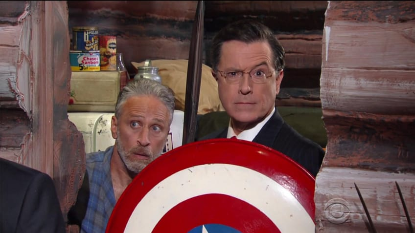 Stephen Colbert and Jon Stewart Reunite for an RNC Special to Take Down Trump