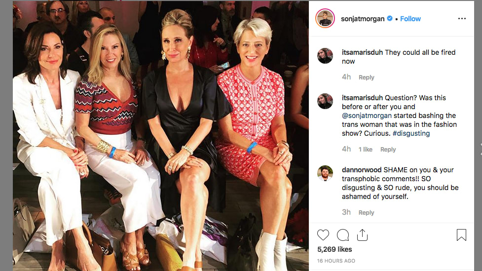 'Real Housewives' Sonja Morgan and Dorinda Medley Fight to Salvage Careers After LGBTQ+ Diss at Fashion Week