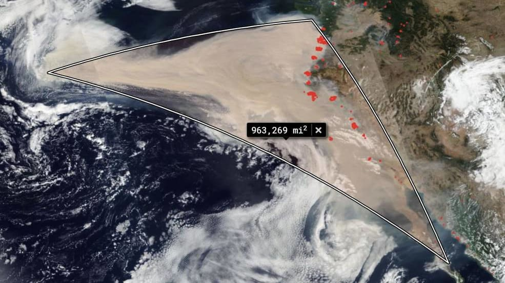 NASA Photo Shows How Far Wildfire Smoke Has Traveled