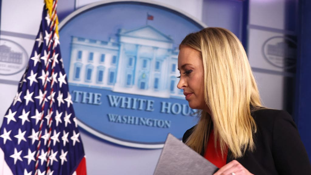 Press Secretary Kayleigh McEnany Departs the White House