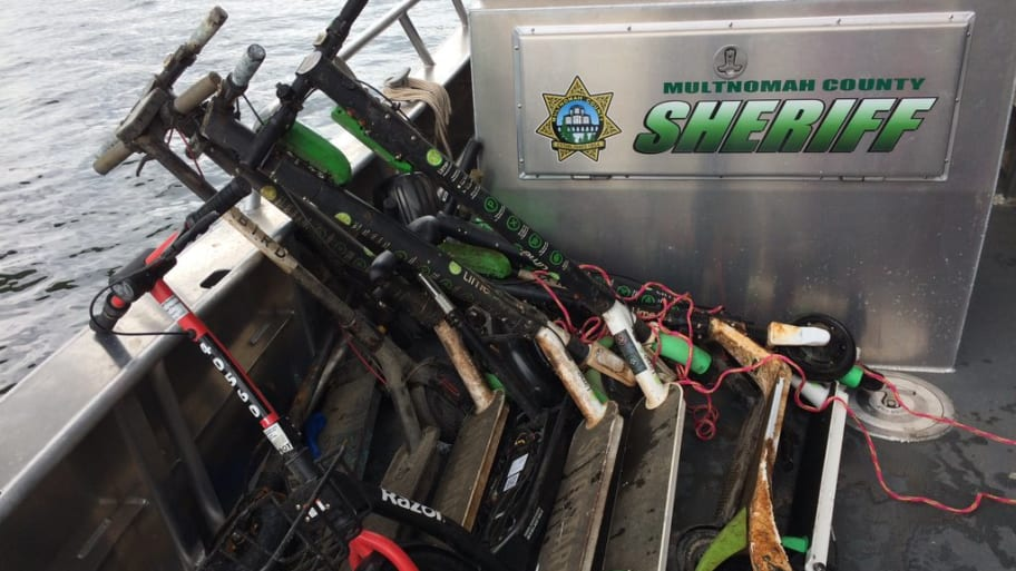 Portland Divers Find About 20 Electric Scooters Dumped at Bottom of Willamette River