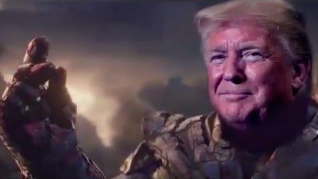 Trump Campaign Tweets Video of POTUS as Genocidal Marvel Villain Thanos