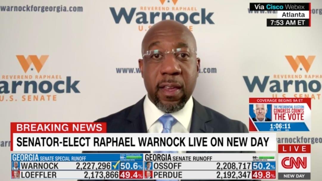 Raphael Warnock on His Stunning Senate Victory: Dr. King Is Smiling