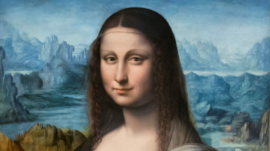 "A copy of Leonardo Da Vinci's famous ""Mona Lisa"" painting is seen during ""The Other's Gaze. Spaces of difference"" exhibition at Madrid's Prado Museum."